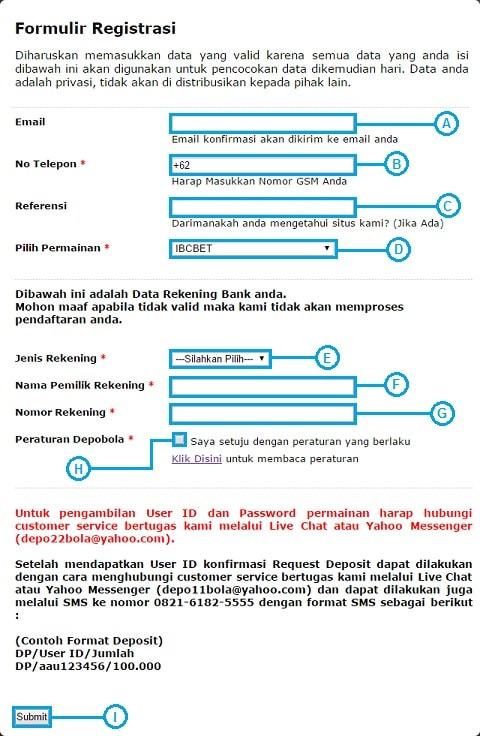 formulir registrasi depoibcbet