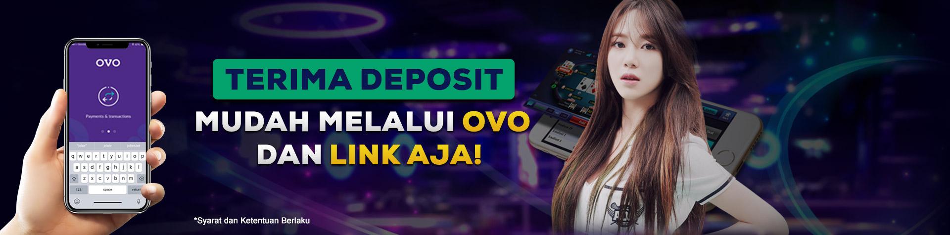 Pembayaran Depobola menggunakan Ovo
